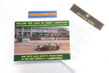 DAVE SCOTT / JPS LOTUS F1 / SWIFT F2 Press booklet and press release 1983